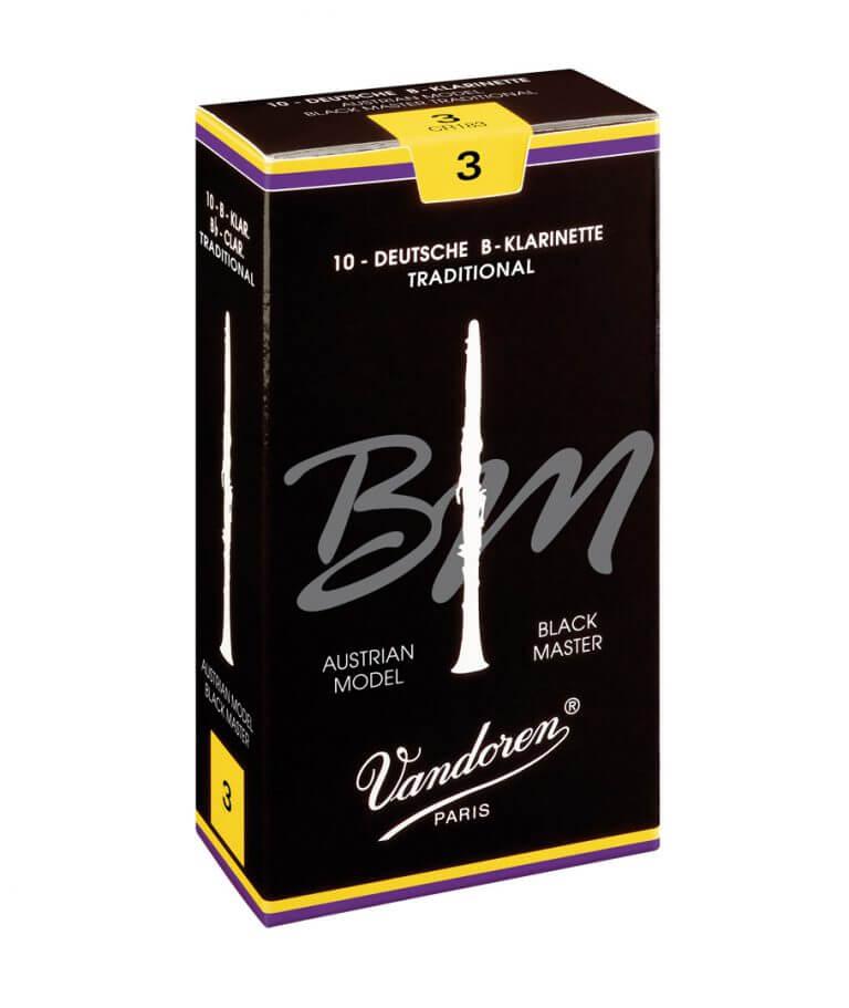 Black Master Traditional Austrian clarinet reeds - Vandoren